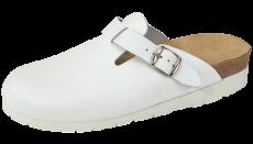 Sandal hel tå hvit