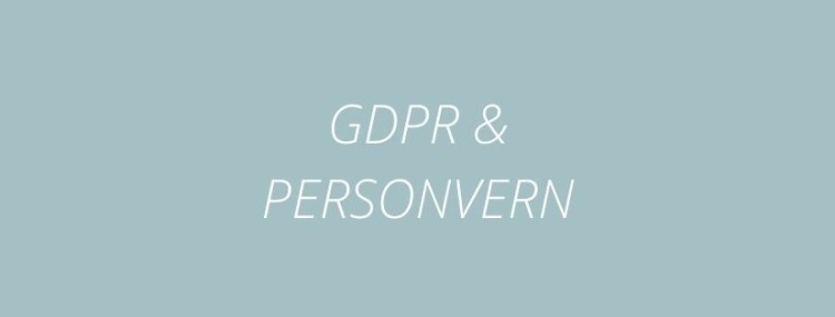 GDPR - Personvernregler