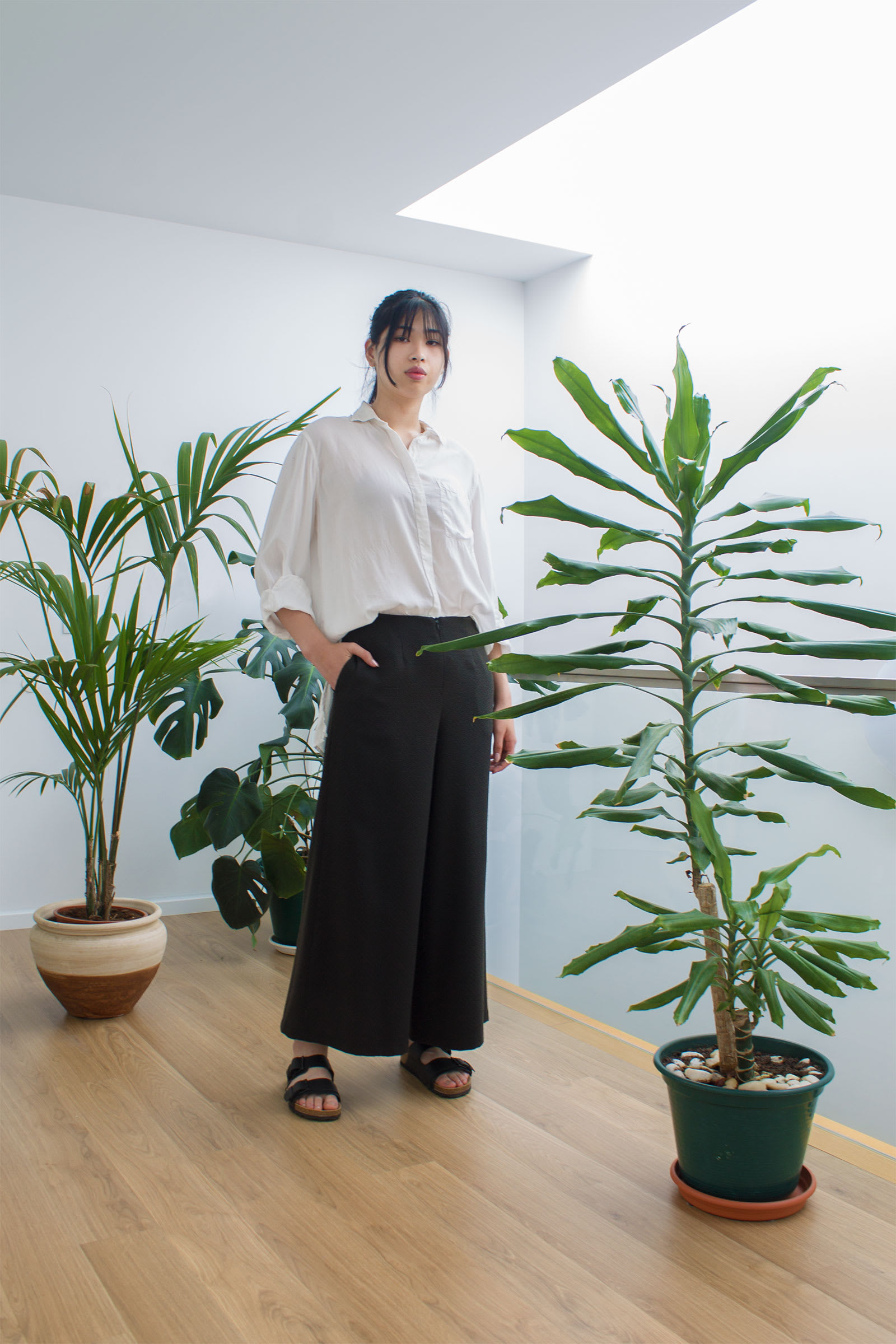 Poro Wide-leg Trousers