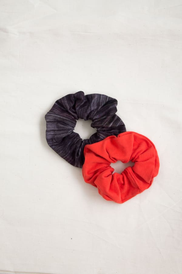 Hair Scrunchies 2PACK Ginger and Bronze