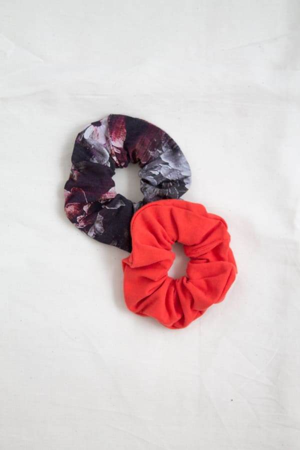 Hair Scrunchies 2PACK Ginger and Cherry
