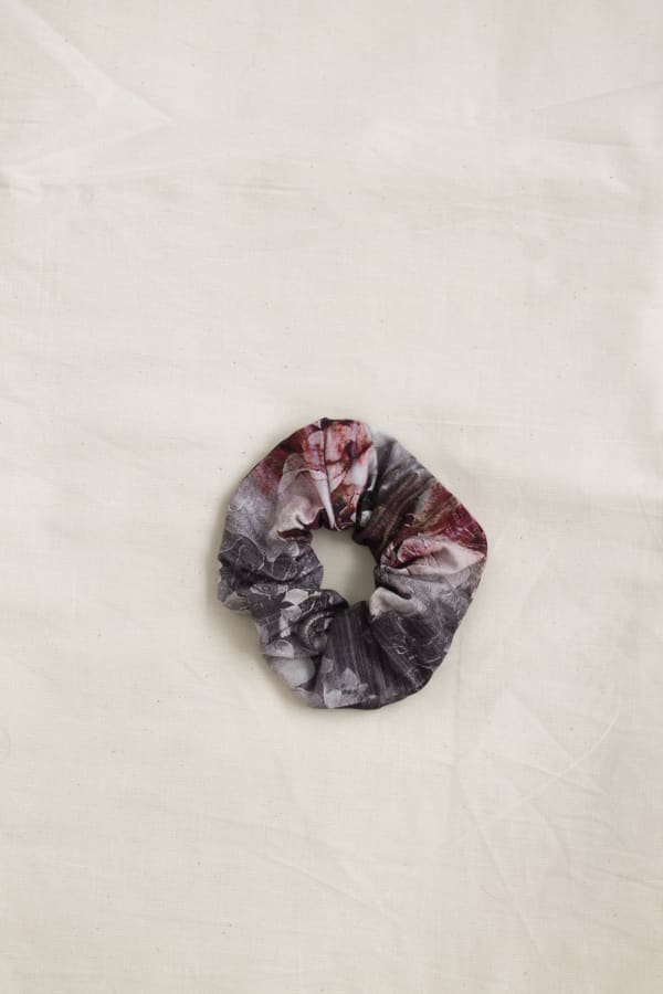 Printed Hair Scrunchies Zero Waste Print-Cherry