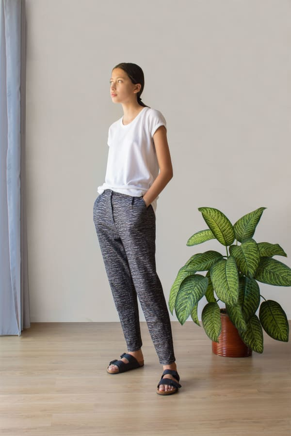 Cropped Graphic Trousers