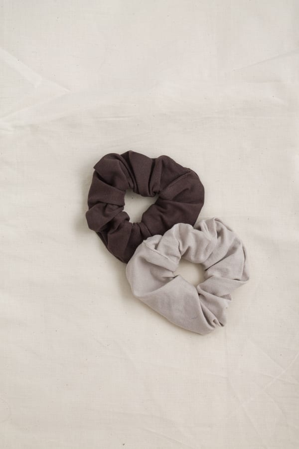 Hair Scrunchies 2PACK Cocoa and Cream