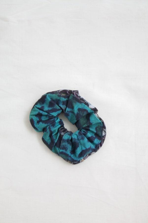 Printed Hair Scrunchies Zero Waste Print-Emerald