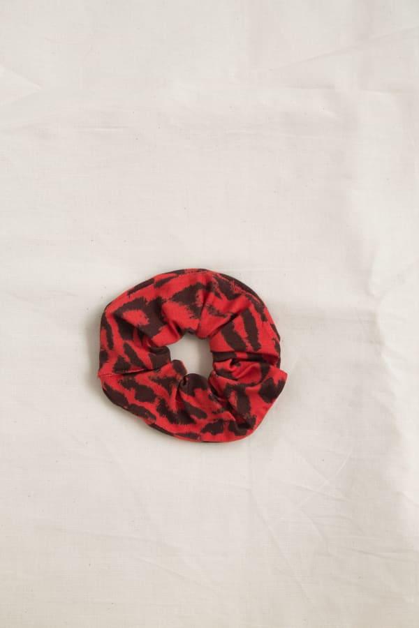 Printed Hair Scrunchies Zero Waste Print-Paprika