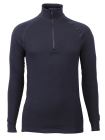 Flame retardant Wool Froté Zip Polo 3/4 neck