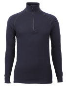 Wool Froté Zip Polo 3/4 neck