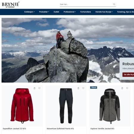 2013: Brynje launched its online store, www.brynje.no