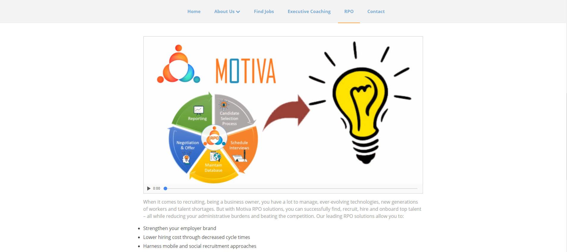 Consulting Website Design 2