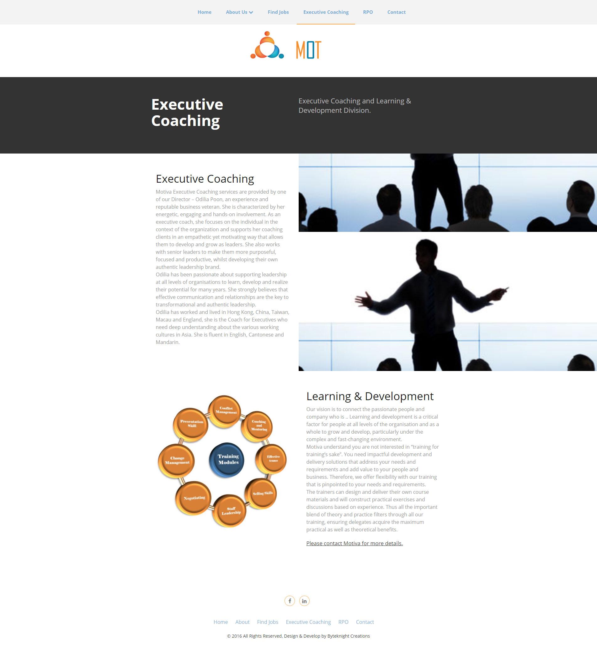 Consulting Website Design 7