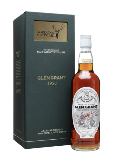Highland Single Malt Scotch Whisky Glen Grant  Gordon & Mac Phail 1956 – 700mL