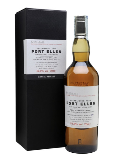 Single Malt Scotch Whisky Sixth Release 27 years  Port Ellen 1978 – 700mL