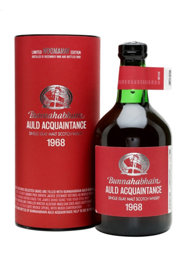 Single Malt Scotch Whisky Auld Acquaintance Bunnahabhain 1968 – 700mL