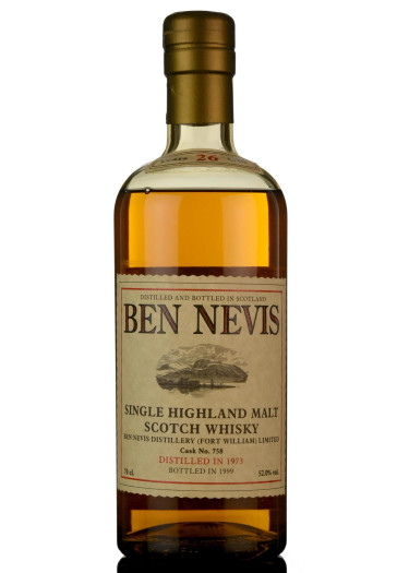 Single Malt Scotch Whisky 26 years  Ben Nevis 1973 – 750mL
