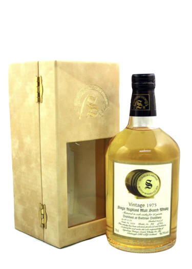 Highland Single Malt Scotch Whisky Signature Vintage 21 years Balblair 1975 – 700mL