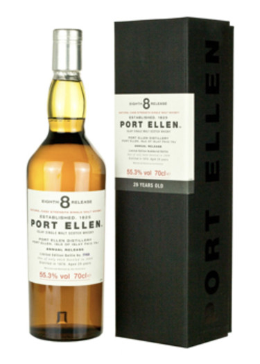 Single Malt Scotch Whisky 29 years Eight Release  Port Ellen 1978 – 700mL