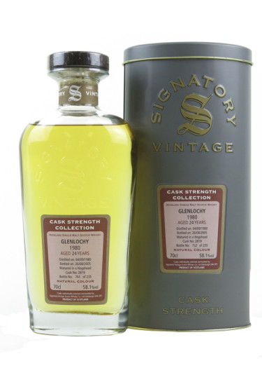 Single Malt Scotch Whisky Signatory Vintage Cask Strength Collection 24 years  Glenlochy 1980 – 700mL