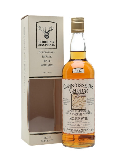 Speyside Single Malt Scotch Whisky Mosstowie Connoisseurs Choice Gordon & Mac Phail 1979 – 700mL