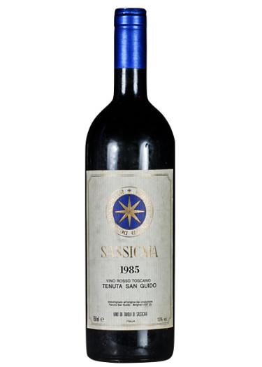 Vino da tavola Sassicaia Tenuta San Guido 1985 – 750mL