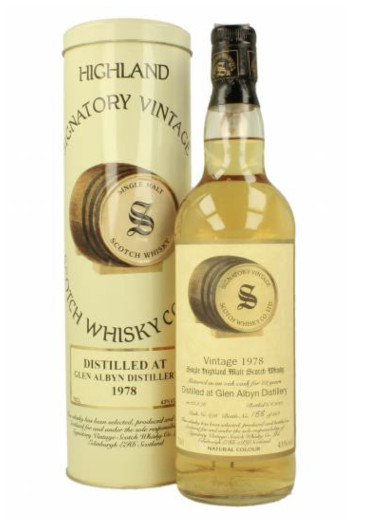 Highland Single Malt Scotch Whisky Signatory Vintage 24 years Glen Albyn 1978 – 700mL