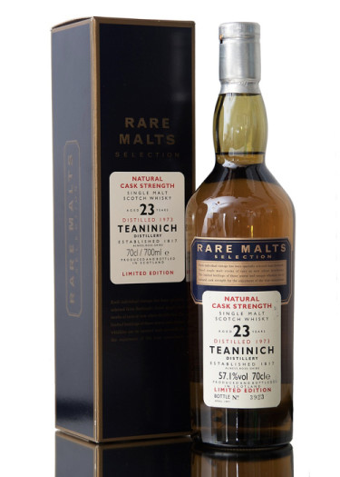 Single Malt Scotch Whisky Natural Cask Strength Rare Malts Selection 23 years  Teaninich 1973 – 700mL