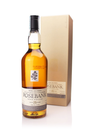 Single Malt Scotch Whisky 25 years Rosebank – 700mL