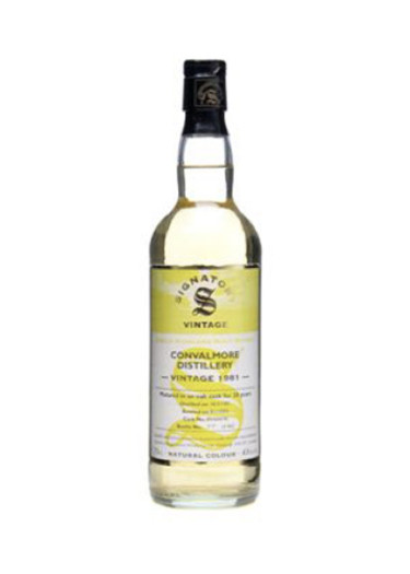 Single Malt Scotch Whisky Signatory Vintage  »Mature in oak cask for 20 years » Convalmore 1981 – 700mL