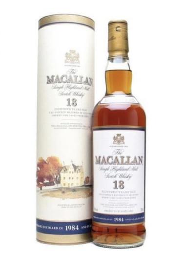 Highland Single Malt Scotch Whisky 18 ans d'âge The Macallan 1984 – 700mL