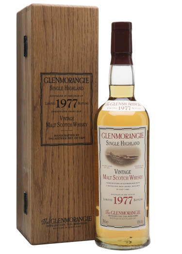 Highland Single Malt Scotch Whisky Vintage Glenmorangie 1977 – 700mL