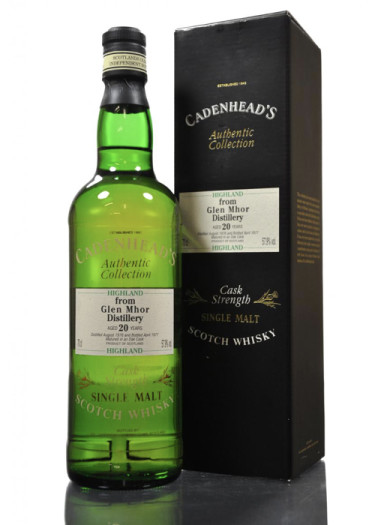 Highland Single Malt Scotch Whisky Cadenhead's Collection 20 years  Glen Mhor – 700mL