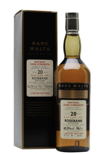 Single Malt Scotch Whisky Natural Cask Strength Rare Malts Selection 20 years Rosebank 1979 – 700mL