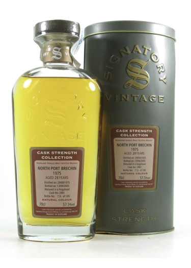 Single Malt Scotch Whisky Signatory Vintage Cask Strength Collection 29 years North Port Brechin 1975 – 700mL