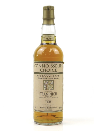 Highland Single Malt Scotch Whisky Teaninich Connoisseurs Choice  Gordon & Mac Phail 1982 – 700mL