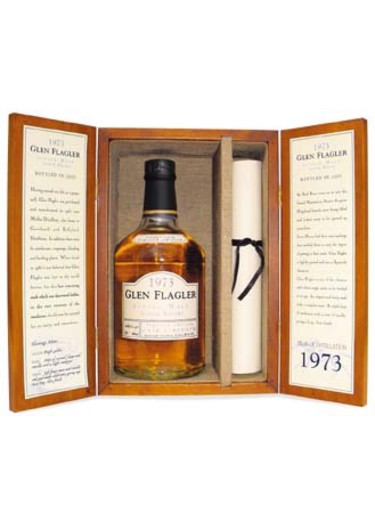 Single Lowland Malt Scotch Whisky Glen Flagler 1973 – 700mL