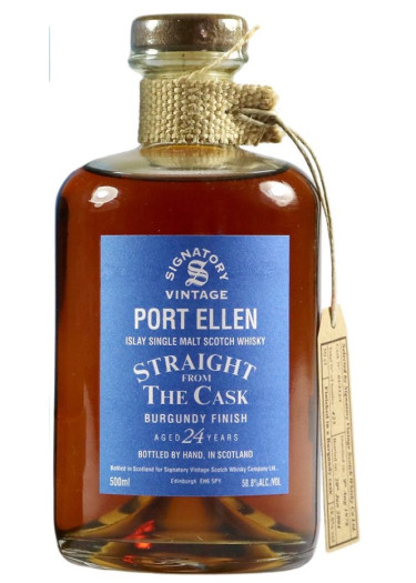 Islay Single Malt Scotch Whisky Signatory Vintage Straight From The Cask 24 years  Port Ellen – 500mL