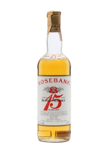 Single Malt Scotch Whisky Unblended 15 years Rosebank – 750mL