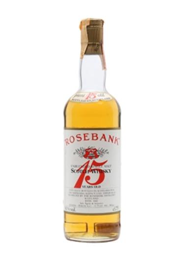 Single Malt Scotch Whisky Unblended 15 years Rosebank – 750mL
