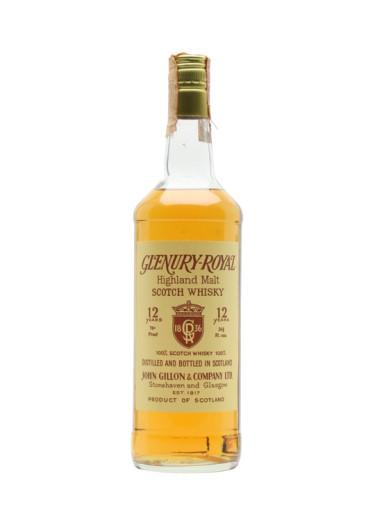 Single Malt Scotch Whisky 12 years  Glenury-Royal – 700mL