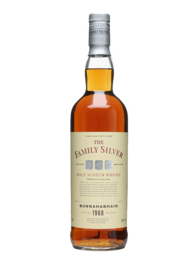 Single Malt Scotch Whisky The Family Silver  Bunnahabhain 1968 – 700mL