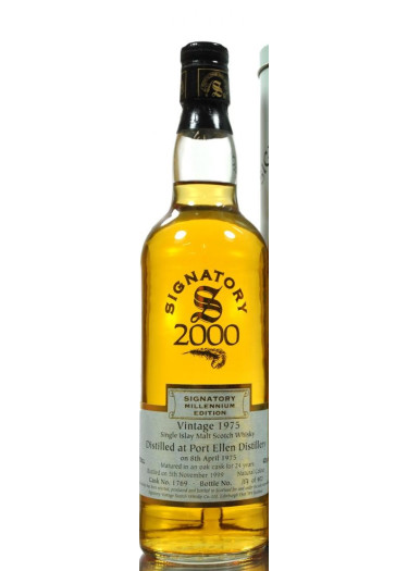 Single Malt Scotch Whisky Signatory Vintage Millenium Edition 24 years Port Ellen 1975 – 700mL