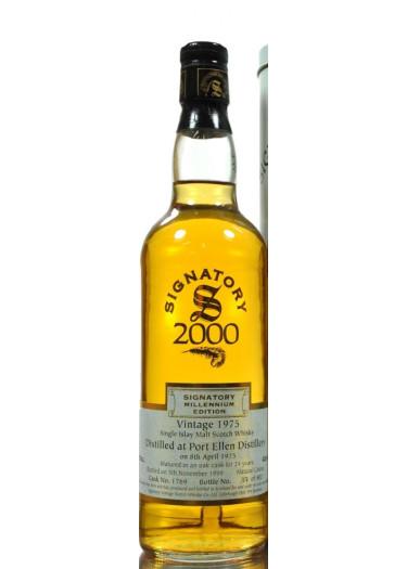 Single Malt Scotch Whisky Signatory Vintage Millenium Edition 24 years Port Ellen 1975 – 700mL