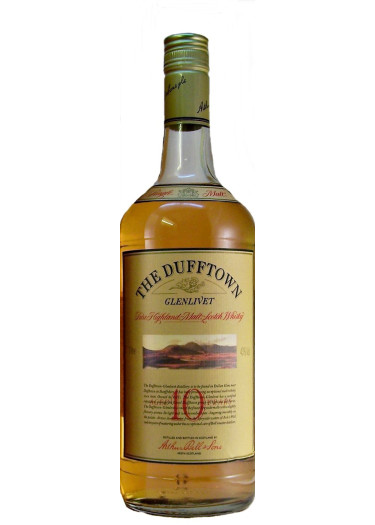 Single Malt Scotch Whisky 10 years  Dufftown-Glenlivet – 700mL