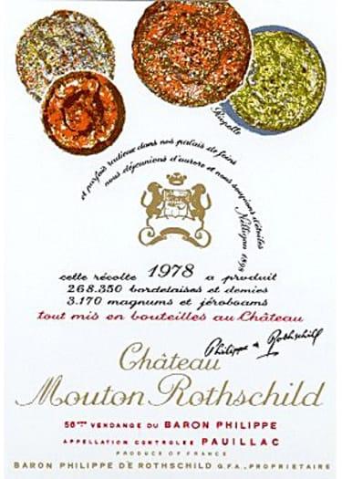 Pauillac 1er grand cru classé Château Mouton Rothschild 1978 – 5L