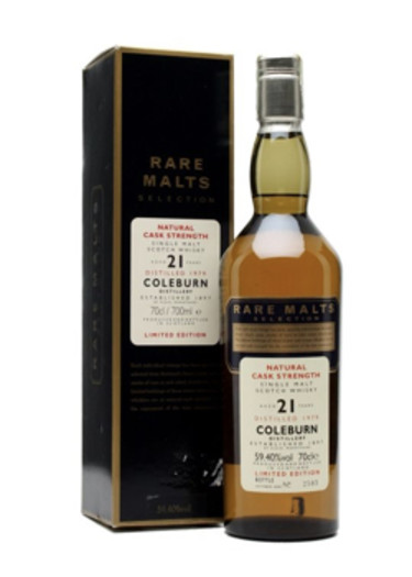 Single Malt Scotch Whisky Natural Cask Strength Rare Malts Selection 21 years Coleburn 1979 – 700mL