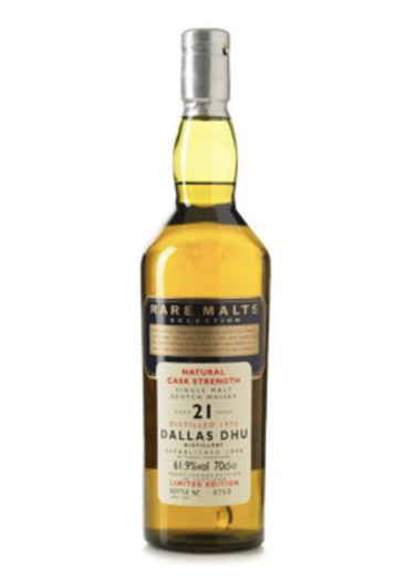 Single Malt Scotch Whisky Natural Cask Strength Rare Malts Selection 21 years Dallas Dhu 1975 – 700mL