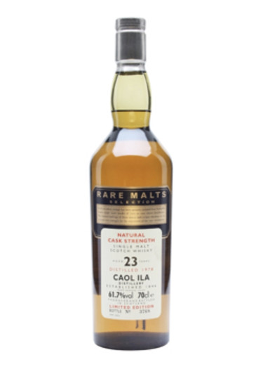 Single Malt Scotch Whisky Natural Cask Strength Rare Malts Selection 23 years Caol Ila Distillery 1978 – 700mL