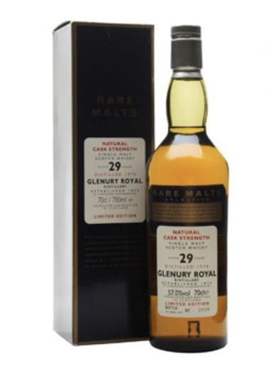 Single Malt Scotch Whisky Natural Cask Strength Rare Malts Selection 29 years  Glenury Royal 1970 – 700mL
