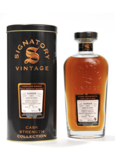 Single Malt Scotch Whisky Signatory Vintage Cask Strength Collection 27 years Glenugie 1977 – 700mL