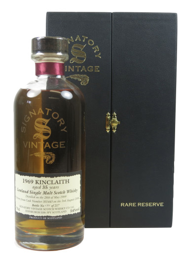 Lowland Single Malt Scotch Whisky Signatory Vintage 35 years Kinclaith 1969 – 700mL